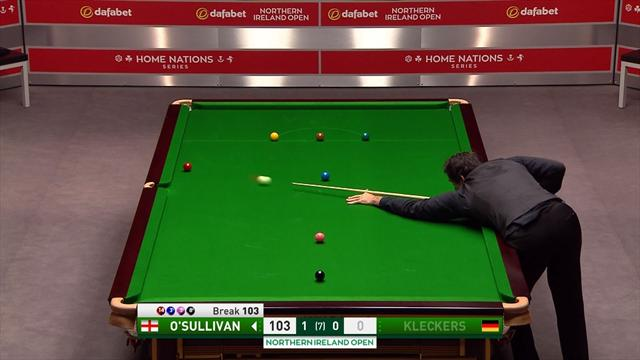 How does O'Sullivan pot this ball?