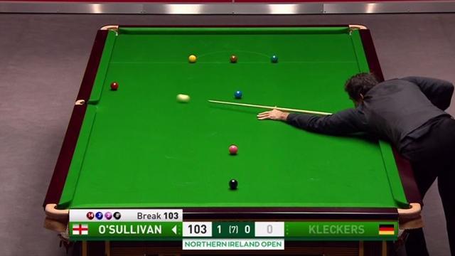 La bola imposible de Ronnie O'Sullivan en su debut en el Abierto de Irlanda del Norte