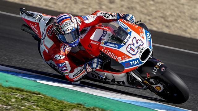Andrea Dovizioso da record nei test a Jerez, Marco Melandri il più veloce fra i piloti SBK