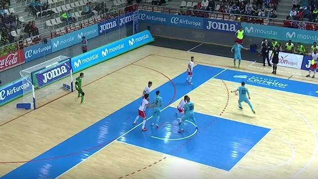 UEFA Futsal Cup, Movistar Inter-Braga: El fortísimo chut de Gadeia que acabó en gol (4-0)