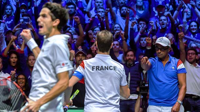 Final Copa Davis, Francia-Bélgica (Dobles): A un solo paso (6-1, 3-6, 7-6(2) y 6-4, global 2-1)