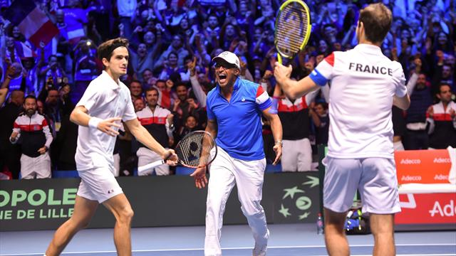 France win doubles, go 2-1 up in Davis Cup final