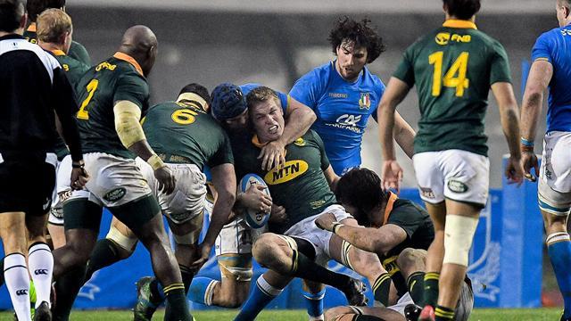 Italia-Sudafrica 6-35: gli highlights della partita