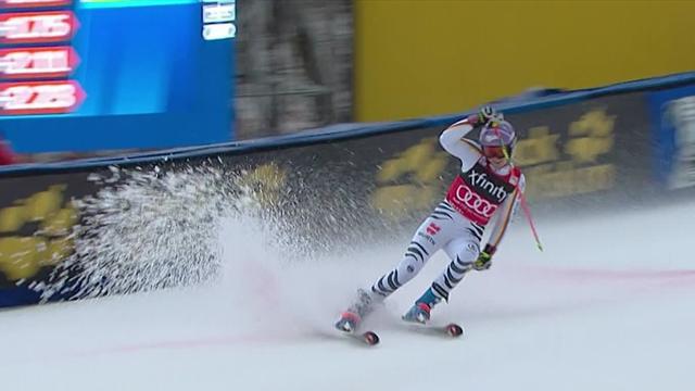 Viktoria Rebensburg hangs on for Killington GS triumph