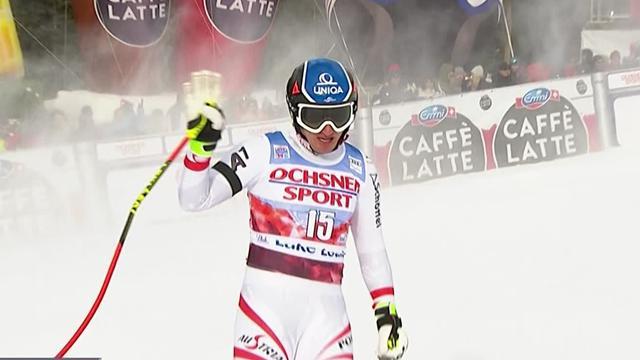 El campeón olímpico Matthias Mayer terminó segundo en Lake Louise por 9 centésimas