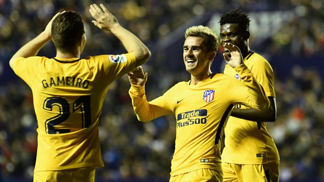 Griezmann et Gameiro retrouvent le sourire, l'Atlético aussi