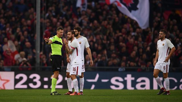 Де Росси дисквалифицирован на 2 игры за удар соперника в лицо