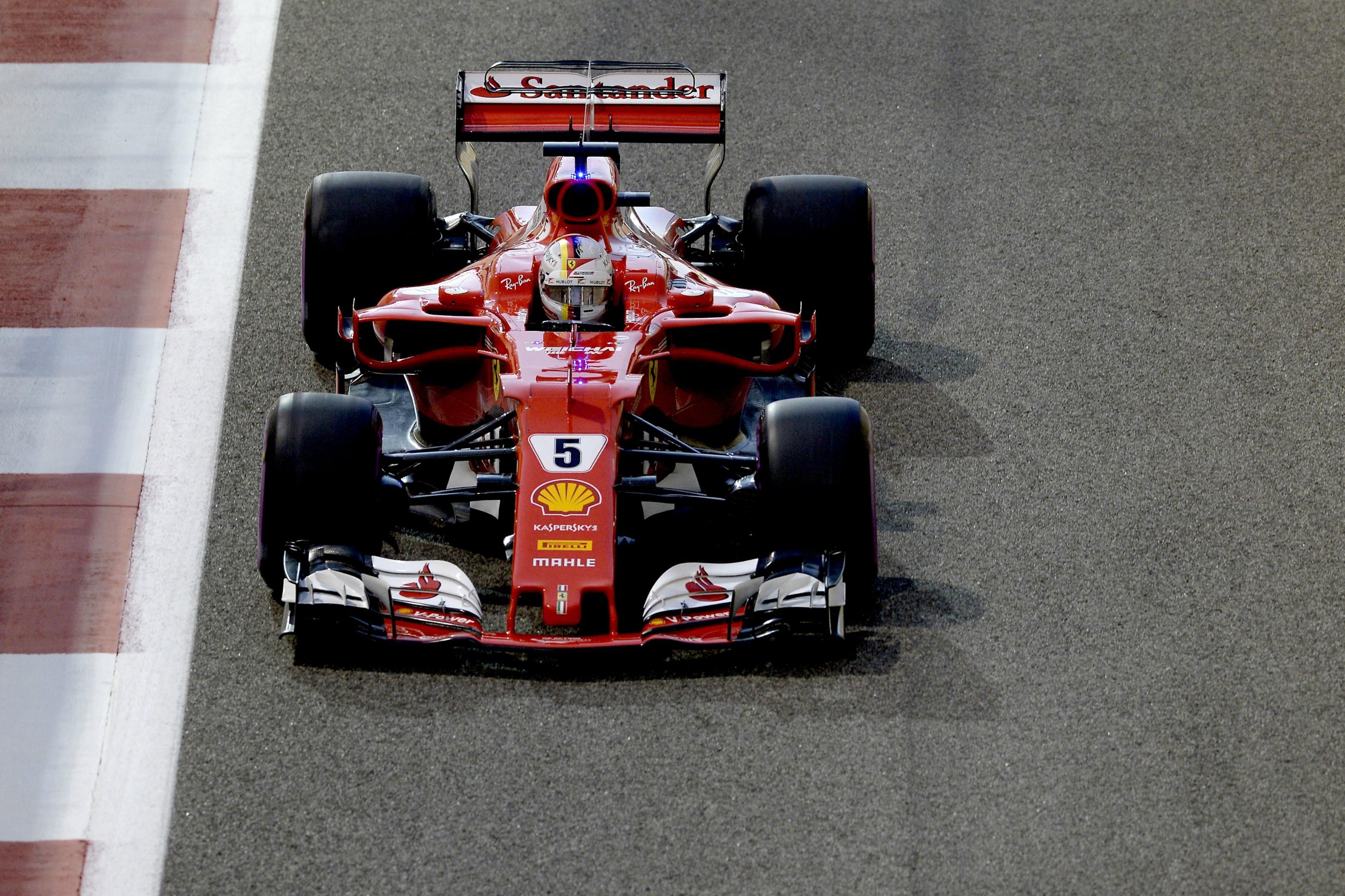 Sebastian Vettel (Ferrari) au Grand Prix d'Abou Dabi 2017