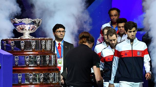 Франция вышла вперед вфинале Кубка Дэвиса после парного матча