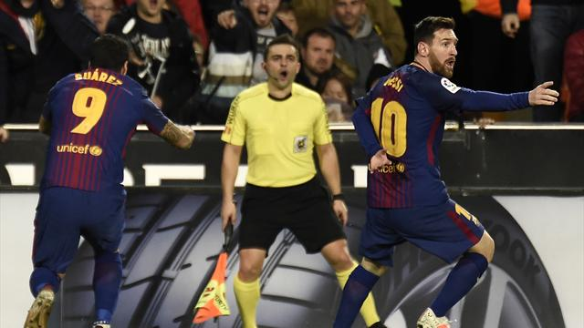 Barcelona le empató al Valencia en un partido con polémica