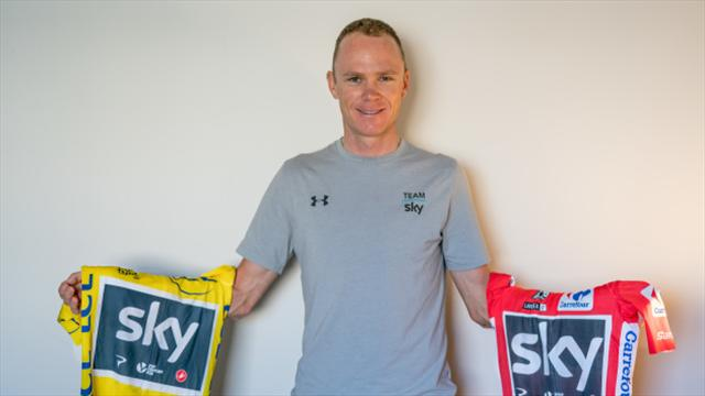 Chris Froome aims to hold all three Grand Tour titles at the same time