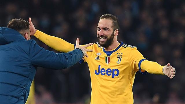 "Napoli boss Sarri hails Higuain a ""phenomenon"" as Juventus edge Serie A win"