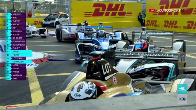 Pile-up brings Hong Kong race one to a standstill