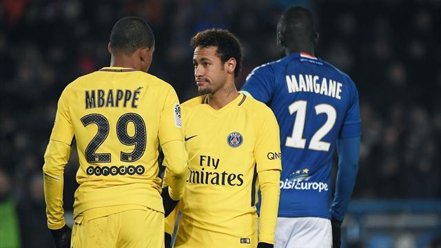 Neymar et Mbappé incertains pour PSG-Guingamp