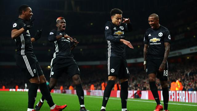 United beat Arsenal in classic as De Gea shines, Pogba sent off for horror tackle