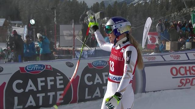 Cagey Vonn fails to reach podium at Lake Louise the day after crash