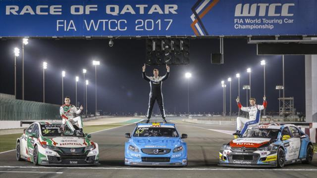 Le top 3 du WTCC célébré au Qatar
