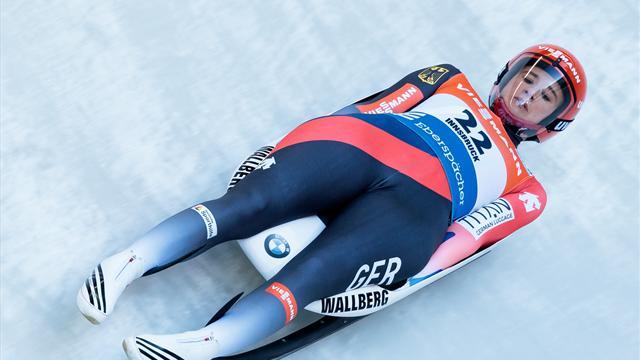Eitberger pips Geisenberger duck as hosts dominate women's luge podium