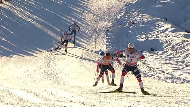 Esquí de fondo: Emocionantísima remontada de Johannes Klaebo en los metros finales de Lillehammer