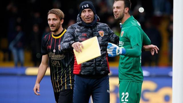 Primer punto con gol de cabeza del portero — Benevento histórico