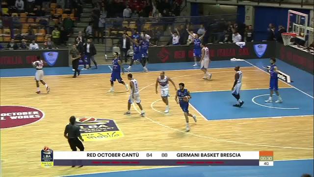 Highlights: Red October Cantù-Germani Basket Brescia 84-88