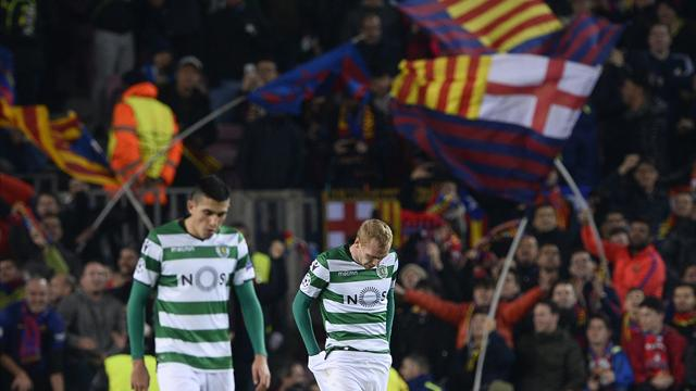 Mathieu nets own goal on return to Nou Camp as Barca beat Sporting