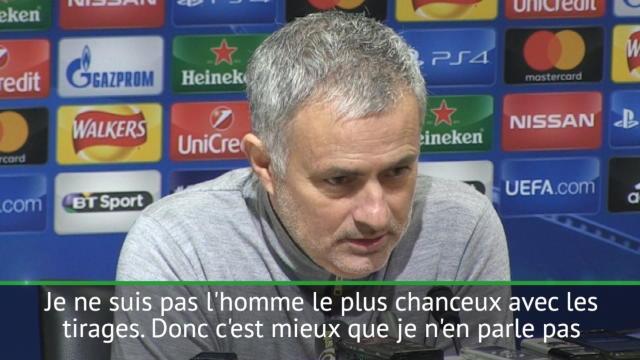 """Mourinho : """"Je ne suis pas l'homme le plus chanceux pour les tirages"""""""