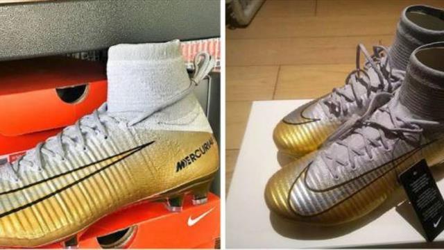 Se filtran las botas conmemorativas que confirman el quinto Balón de Oro de Cristiano