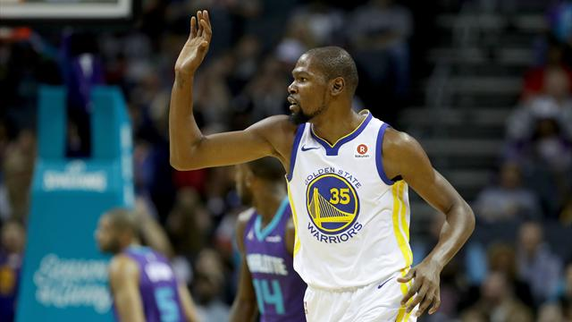 Curry'nin yokluğunda Durant'ten triple-double