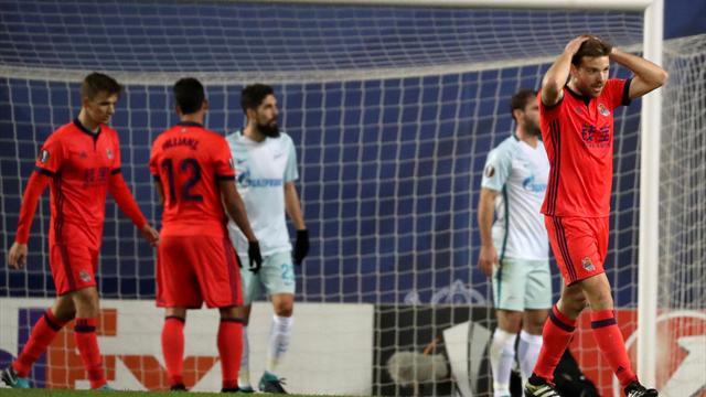Europa League, Real Sociedad-Zenit: Tropiezo sin castigo (1-3)