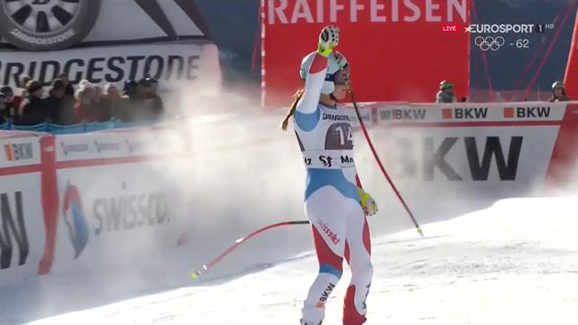 Flury wins, Vonn injured and Gut crashes at St Moritz