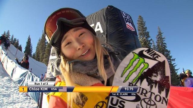 Highlights: Top 3 women's runs in Copper Mountain Big Air half-pipe