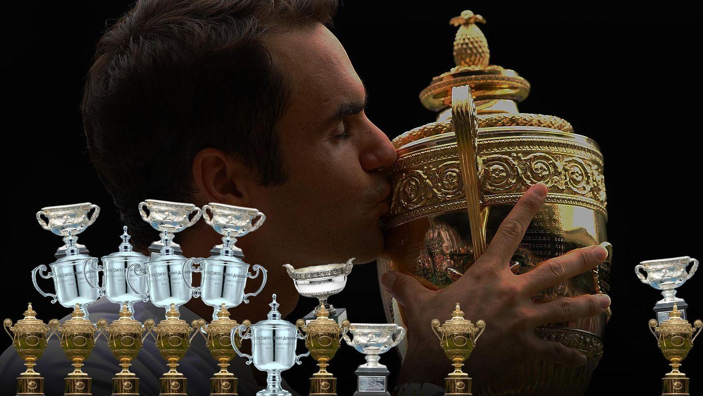 Le palmarès majeur de Federer, long comme le bras
