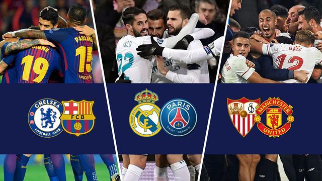 Bombazos en octavos: Chelsea-Barcelona, Real Madrid-PSG y Sevilla-United