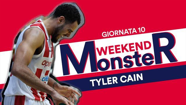Monster Weekend: la perfezione di Tyler Cain, 10/10 al tiro contro Capo d'Orlando