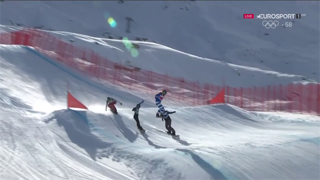 Michela Moioli terza nella Big Final di snowboard cross a Val Thorens