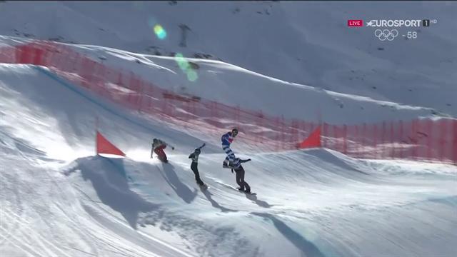 Michela Moioli terza nella Big Final di snowboard cross a Val Thorens