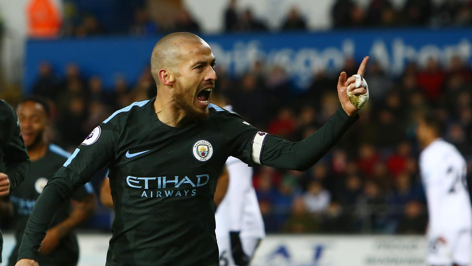 David Silva Absent Again For Manchester City, Aguero
