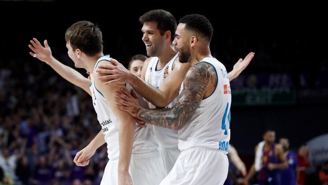 El Madrid se lleva el Clasico, Baskonia asalta la cancha de Efes, Unicaja gana al Khimki y Valencia cae con el Estrella Roja