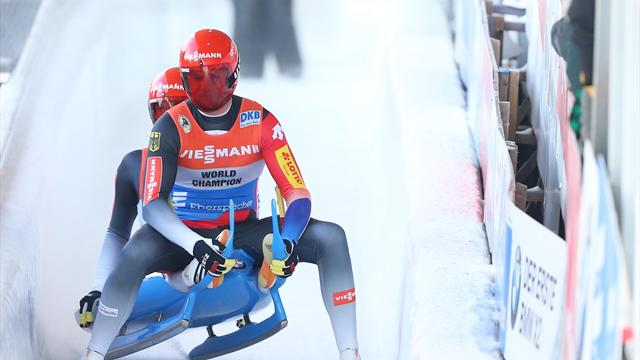 Eggert and Benecken win Luge World Cup in front of home fans