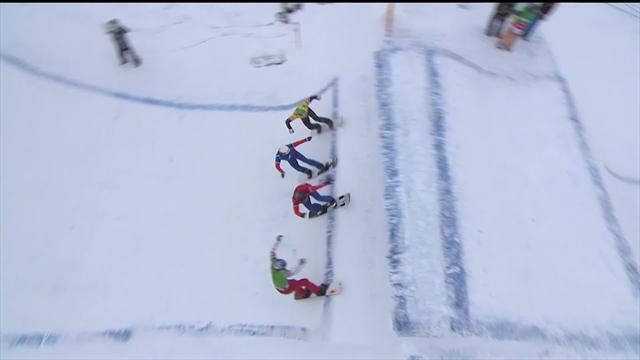 Snowboard-Cross: Hughes siegt vor Haemmerle und Schairer