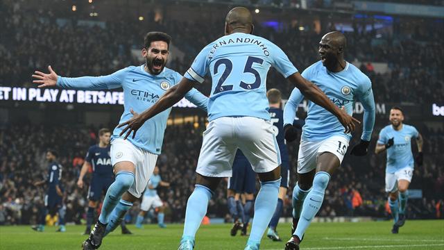 «Манчестер Сити» разгромил «Тоттенхэм» иодержал 16-ю победу подряд