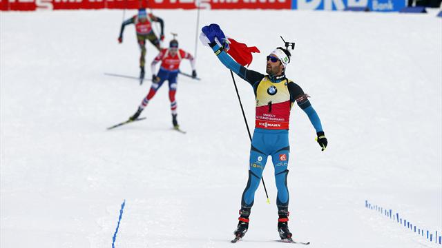 Фуркад одержал победу масс-старт вАнси, Йоханнес Бе— второй, Шипулин— четвертый