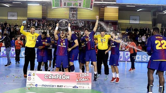 22-28. El Barcelona gana su decimotercera Copa ASOBAL