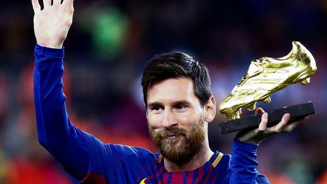 Leo Messi ofreció su bota de oro a sus aficionados