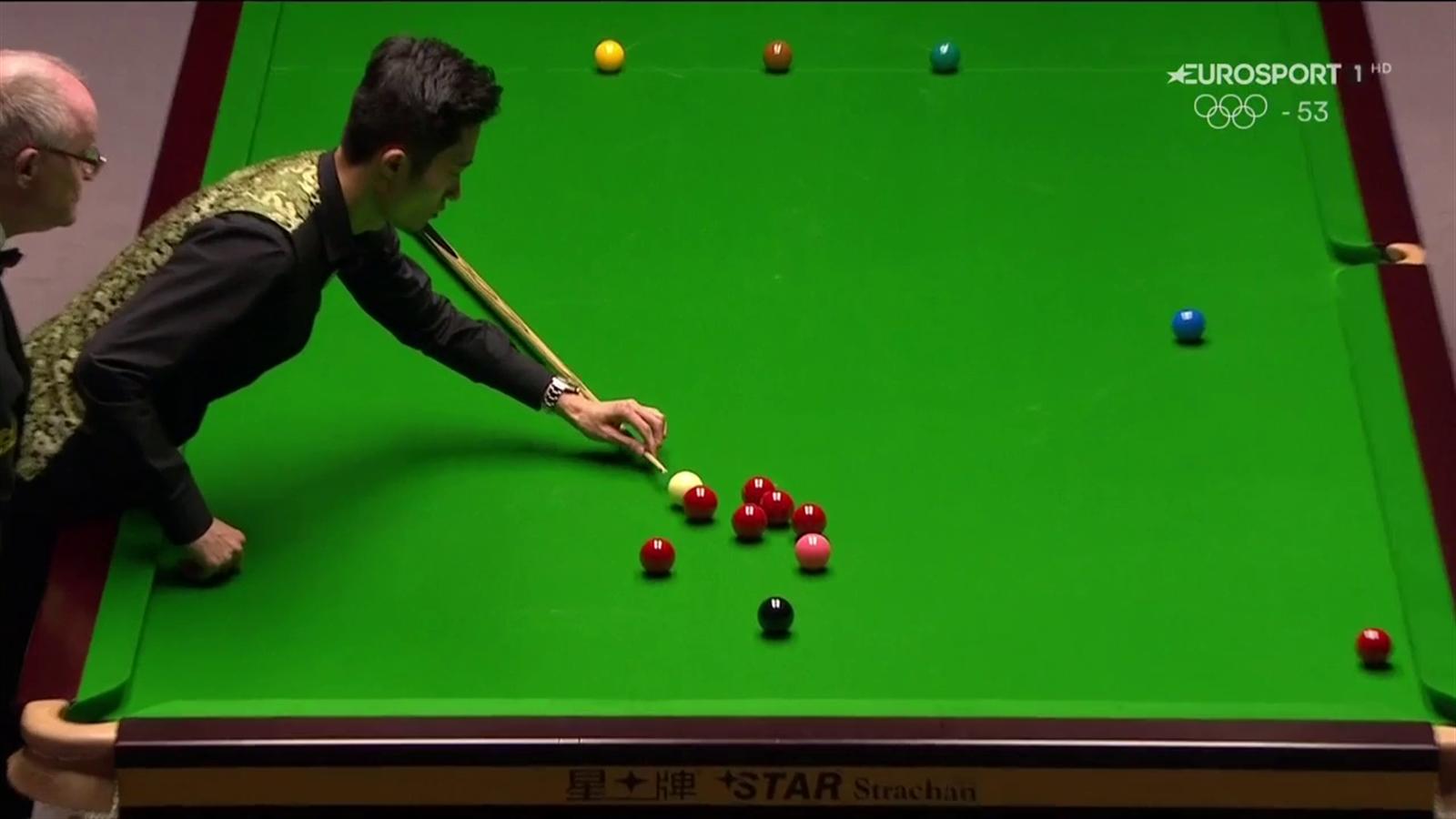 VIDEO - Ma è snooker, shanghai o Subbuteo? Cao Yupeng accosta con la ...