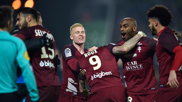 Nantes garde le cap, Angers et Metz se rebiffent