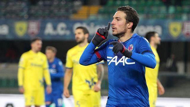 Il Bologna non finisce mai e batte il Chievo 3-2