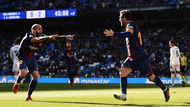 Même sans chaussure, Messi régale ses coéquipiers lors du Clasico