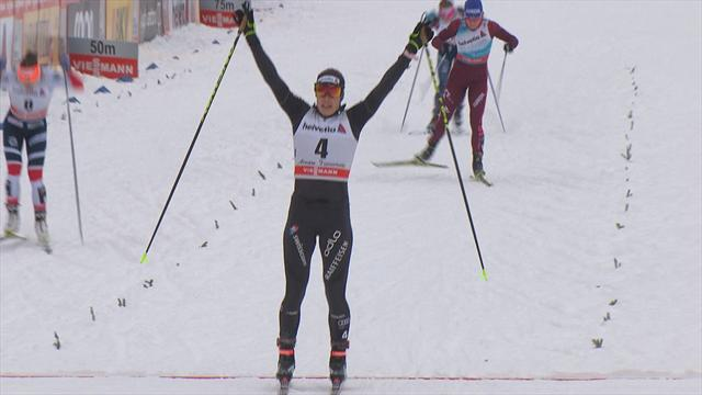 Cologna takes second stage of Tour de Ski, Canada's Harvey finishes 20th